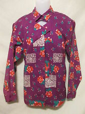 Vtg WRANGLER Authentic Western Apparel Keyhole Blouse/Shirt Large Cowgirl Rodeo