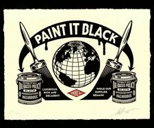 Shepard Fairey Paint It Black 2020 Art Poster Obey Giant Signed /450