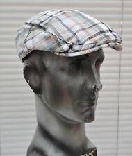 d108960b Men's Failsworth Linen Mix Summer Check Flat Cap, 59cm.