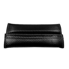 2PC Carbon Fiber Fabric Car Seat Belt Cover Shoulder Pad Cushion Safe Protector