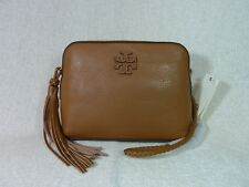 cd5fe476c2 NWT Tory Burch Bark Pebbled Leather Taylor Camera Cross Body Bag $350