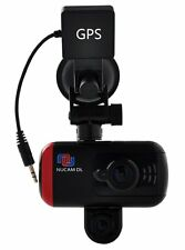 NuCam Dual Lens Dash Cam Front and Back HD 1080P Adjustable Night Vision w. GPS