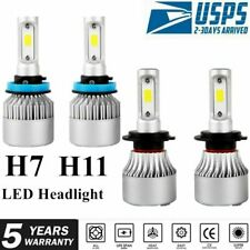 4x Combo H7+H11 LED Headlight Bulbs Conversion Kit Fog Light Hi/Lo Beam 8000K