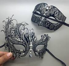 Black Metal Couple Lover Masquerade Mask Party Mask Men & Women Swan Mask