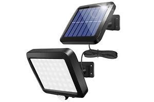 Faretto lampada solare led da esterno 30w luce fredda sensore di movimento
