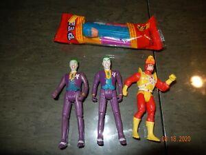 DC Super Powers Joker (2) & Firestorm Figures & Batman Pez Lot