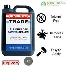 Resiblock Trade | Paving Sealer | Solvent Free | 5ltr | FREE Delivery