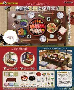 Re-Ment Miniature Mini Food Sample Petit Japan Gorgeous Sushi Full Set Rement