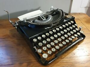 "Working 1930s Vintage Imperial ""Good Companion"" Portable Typewriter"