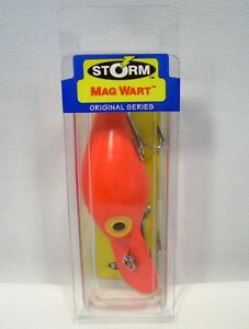 Storm Original Series 3/4 oz Fluorescent Red Mag Wart Fishing Lure Plug
