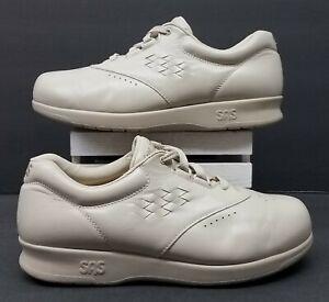 SAS Free Time Women Size 7 WW Beige Leather Tripad Comfort Lace Up Oxford Shoes