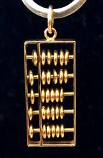 Vintage 18k Yellow Gold Abacus Pendant 5.56 grams
