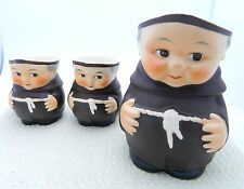 VTG Set of 3 Goebel Friar Tuck Miniature Creamers W. Germany Mark Hummel Figures