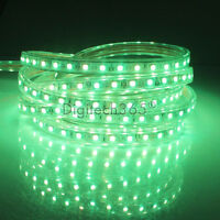 SMD5050 Luces de cinta-tira LED flexible AC200V 60 LED/m impermeable (Verde)