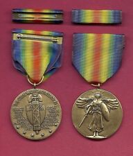 WWI Victory medal  World War I medal with ribbon bar