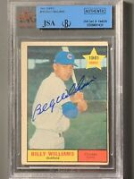 1961 Topps #141 Billy Williams Autographed RC BVG/JSA Authentic Slab Cubs HOF