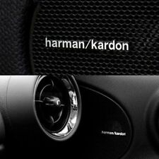 2x harman/kardon aluminio emblema-sticker para altavoces BMW, Mercedes, etc.