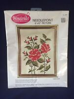 Vtg Rose Crewel Embroidery Kit New In Package