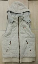 Womans Voi Jeans Reversible Padded Gilet Grey/Cream size UK 12