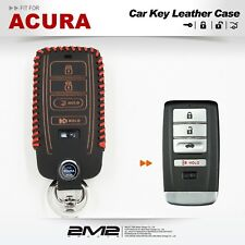 Leather Key Fob Holder Case Chain Cover fit For 2017 ACURA RLX RDX MDX ILX