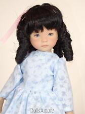 "Doll Wig Monique Black Banana Curls Size Wig 7/8"" Fits Vintage And Modern Dolls"
