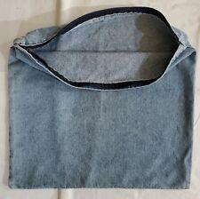 One Zippered Denim Throw Pillow Cover light wear