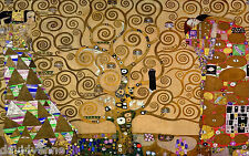 The Kiss Klimt Tree Lovers 18 x 30 inch HUGE needlepoint canvas