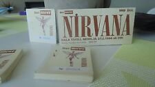 Nirvana ticket stubs Ljubljana concert