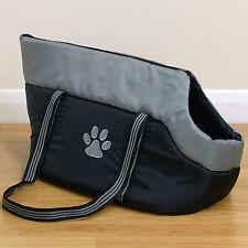 Black/Grey Padded Pet Travel Carrier Hand/Shoulder Bag for Dog/Puppy/Cat/Kitten