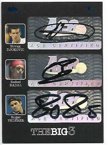 2012 Ace Federer Nadal Djokovic Triple Autograph The Big 3 Auto