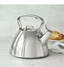 All-Clad ~ 2 Qt Tea Kettle Whistling ~ Durable Stainless Steel Easy Pouring
