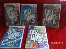 👀 Nintendo Wii 👀 5 Games 👀 JUST DANCE~ complete w/manual, game & case