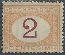 1870-74 REGNO SEGNATASSE 2 CENT MH * - RB8