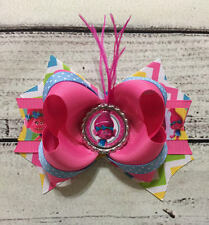 Handmade Trolls Poppy Stacked Boutique Hair Bows