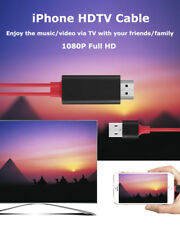 For iPhone X 7 8 Plus HDMI 1080P HDTV Video/Audio Cable to TV/Monitor/Projector