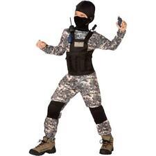Navy Seals Boys Halloween Costume Medium 8-10 Jumpsuit READ