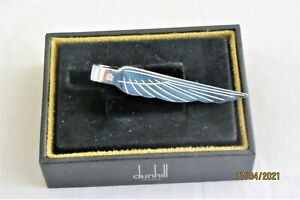 DUNHILL SILVER TONE WING TIE CLIP/BAR BOXED NEW