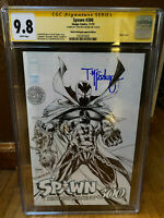 SPAWN #300 Alamo Drafthouse Sketch Variant Cover CGC SS 9.8 Signed McFarlane