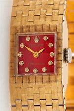 Vintage $12,000 RED MOP Diamond 18k Yellow Gold Ladies Rolex Watch BOX WTY 49g
