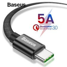 Type C USB C 5A Fast Charging Cable Quick Charger Sync Data For Samsung S9 S8 LG