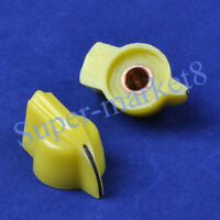 5PCS Chicken Head Knob for Effect Bass Pedal Amp Yellow