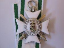 German WWI Saxony Merit Order 2nd Class Silver w/ Swords Formally Civil Merit