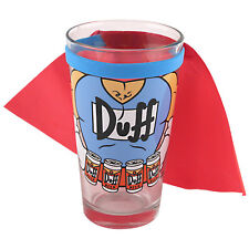The Simpsons Duffman Caped Pint Glass - 16oz - Bar Colectible Duff Beer Gift Cup