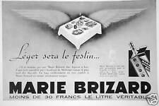 PUBLICITÉ MARIE BRIZARD LÉGER SERA LE FESTIN MOINS DE 30 FRANCS LE LITRE
