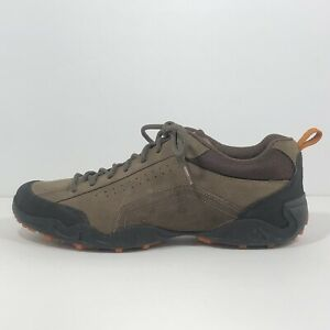 ECCO Leather Walking Hiking Shoes Men's Size EU 44 Receptor Technology Comfort