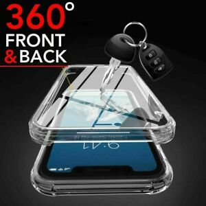 360 FRONT AND BACK CLEAR CASE FOR IPHONE 13 11 12 PRO MAX Mini Shockproof COVER