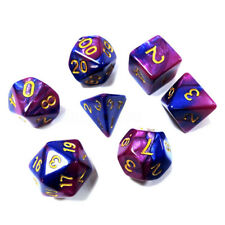 New Polyhedral Dice Purple&Blue 7 Piece D&D RPG MTG Party Game Toy Set
