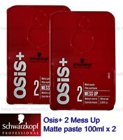 Schwarzkopf Osis+ 2 Mess Up Matte paste Medium Control 100ml x 2 FREE tracking