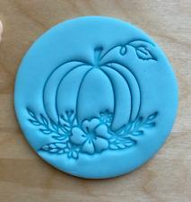 Floral Pumpkin Embosser Stamp