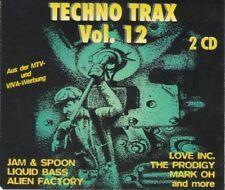 Techno Trax 12 (1994, #zyx81028) - 2 CD - Liquid Bass, Moby, Alien Factory, M...